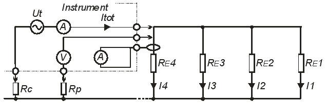 Рис. 36.  Электрическая схема замещения предыдущего практического примера.