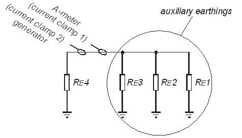 Рис. 38.  Электрическая схема замещения в предыдущем практическом примере.